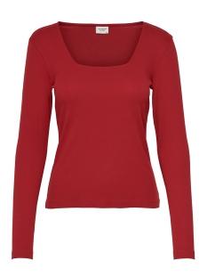 Jacqueline de Yong T-shirt JDYSMILLA L/S SQUARE NECK JRS 15196909 Scarlet Sage