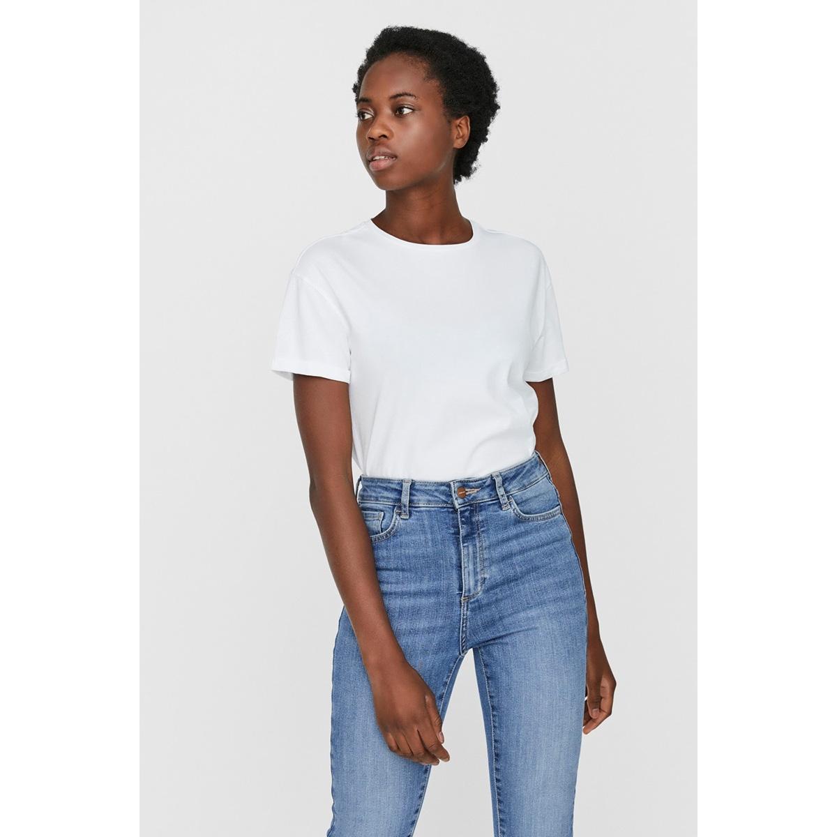 nmbrandy s/s top bg noos 27010978 noisy may t-shirt bright white