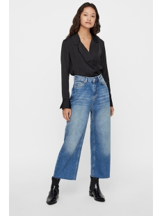 vmfreya silky l/s shirt body exp ki 10210544 vero moda blouse black