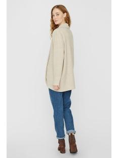 vmtammi new l/s open cardigan exp 10230656 vero moda vest oatmeal/melange