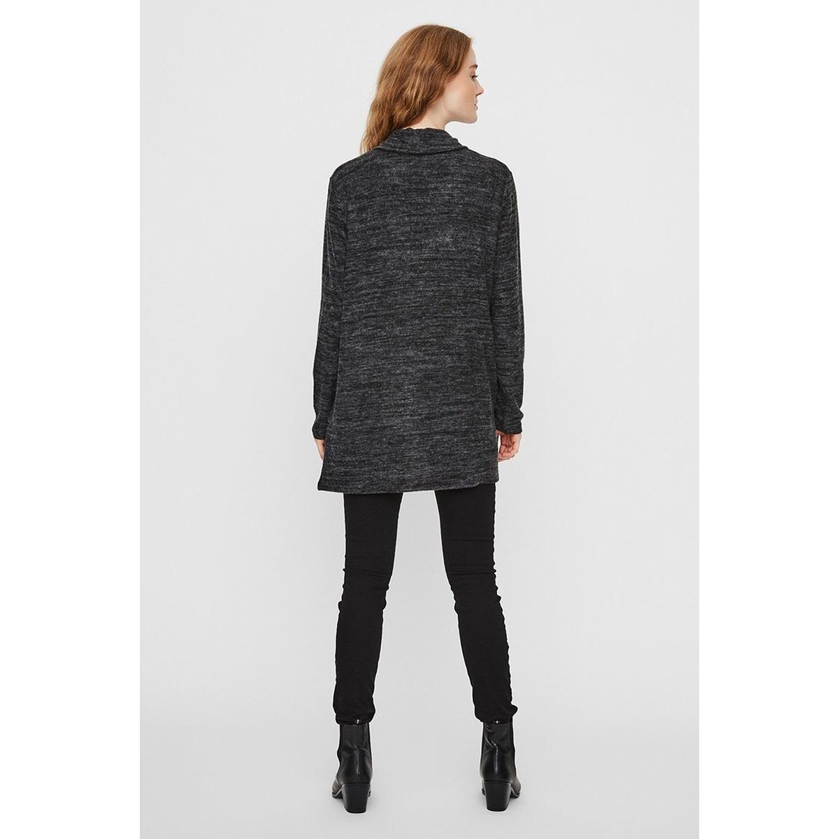 vmtammi new l/s open cardigan exp 10230656 vero moda vest dark grey melange