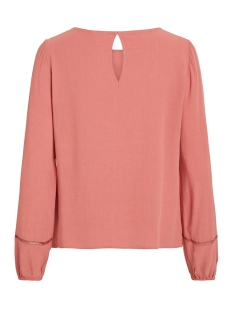 vimero detail l/s top/su 14055954 vila blouse dusty cedar