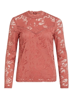 Vila Blouse VISTASIA L/S LACE TOP-FAV 14044847 Dusty Cedar