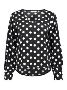 onlsara l/s top  wvn 15208074 only blouse black/dots