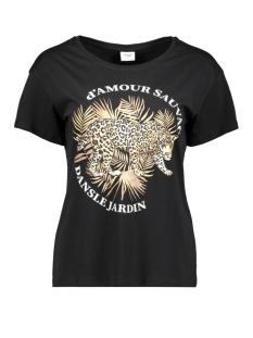 Jacqueline de Yong T-shirt JDYGLITTER LIFE S/S PRINT TOP JRS 15209028 Black/LEO