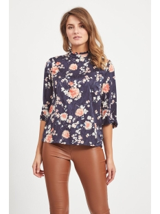 Vila Blouse VIWILLA 3/4 TOP 14057415 Navy Blazer/FLOWERS