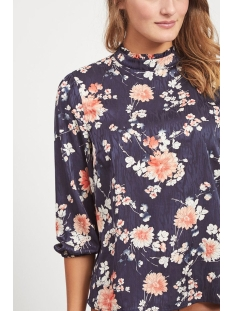 viwilla 3/4 top 14057415 vila blouse navy blazer/flowers