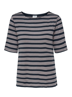 Jacqueline de Yong T-shirt JDYCAMINA STRIPED 2/4 TOP JRS 15196911 Navy Blazer/SHADOW GRA