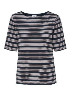 jdycamina striped 2/4 top jrs 15196911 jacqueline de yong t-shirt navy blazer/shadow gra
