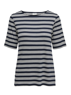 jdycamina striped 2/4 top jrs 15196911 jacqueline de yong t-shirt navy blazer/cloud dancer