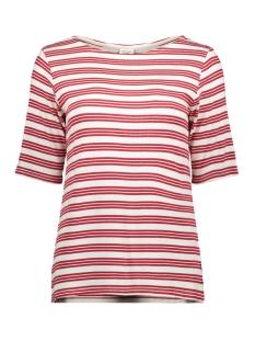 Jacqueline de Yong T-shirt JDYCAMINA STRIPED 2/4 TOP JRS 15196911 Cloud Dancer/SCARLET SAGE