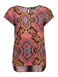 Only T-shirt ONLBETTY SS TOP WVN 15202571 Night Sky/ CULTURAL B