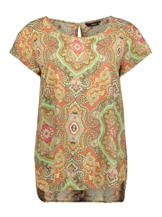 Only T-shirt ONLBETTY SS TOP WVN 15202571 Hot Sauce/CULTURAL B