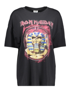 Noisy may T-shirt NMIDA BAND LICENSE S/S TSHIRT BG 27012393 Black/IRON MAIDE