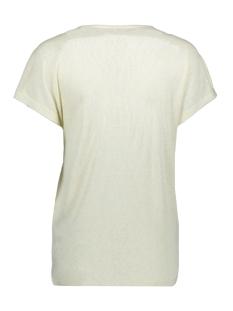 onlraley s/s v-neck glitter top cs 15203057 only t-shirt oatmeal
