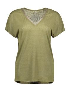 onlraley s/s v-neck glitter top cs 15203057 only t-shirt martini olive