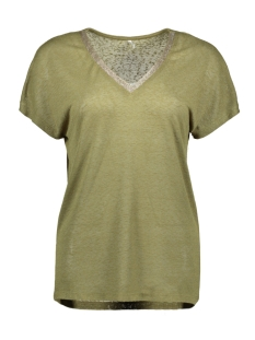 Only T-shirt ONLRALEY S/S V-NECK GLITTER TOP CS 15203057 Martini Olive