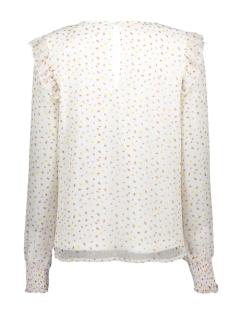 viuta l/s top 14058733 vila blouse cloud dancer/dots