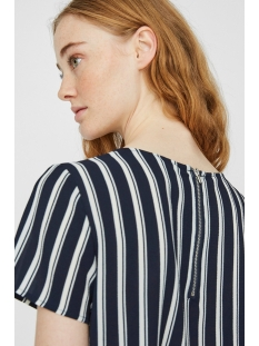 vmsasha ss zip top noos 10225077 vero moda t-shirt navy blazer/snow white