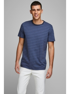 Jack & Jones T-shirt JJESTRIPED TEE SS CREW NECK STS 12164640 Denim Blue/SLIM FIT
