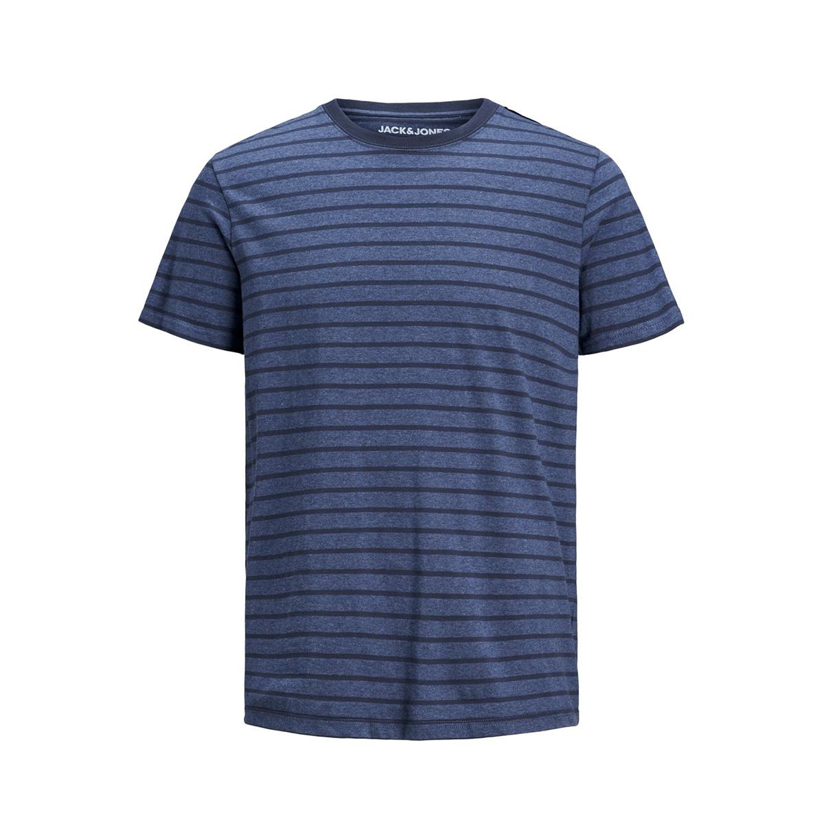 jjestriped tee ss crew neck sts 12164640 jack & jones t-shirt denim blue/slim fit