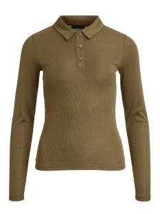 Object T-shirt OBJARZANA L/S TOP A WI 23032585 Burnt Olive