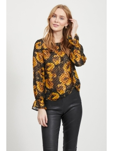 Object T-shirt OBJELODIA L/S BLOUSE A WI 23032576 Black/ELODIA FLORAL