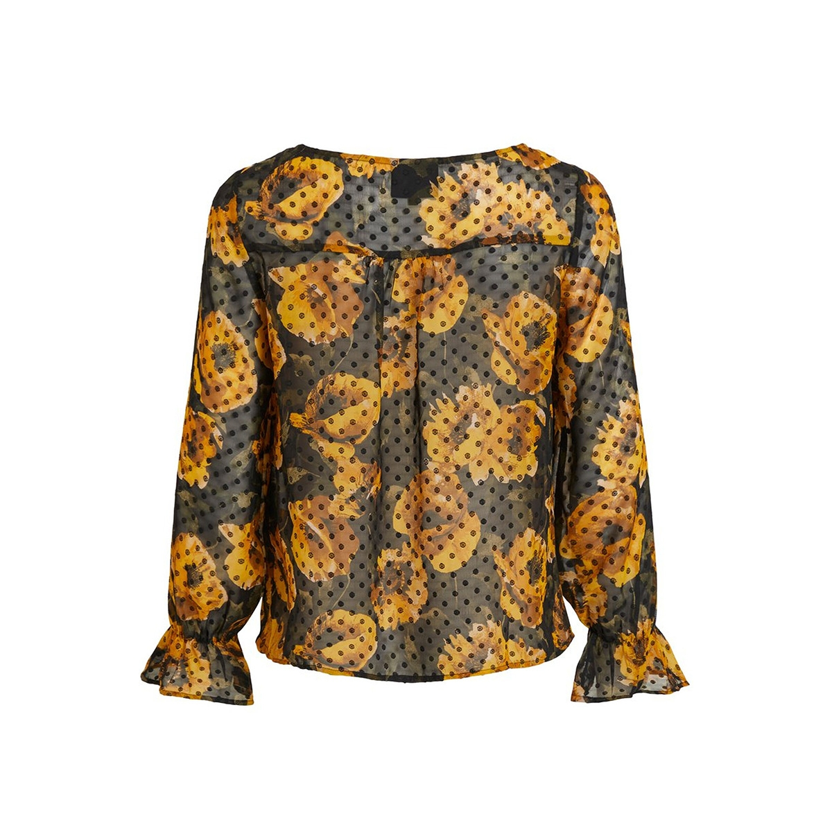 objelodia l/s blouse a wi 23032576 object t-shirt black/elodia floral