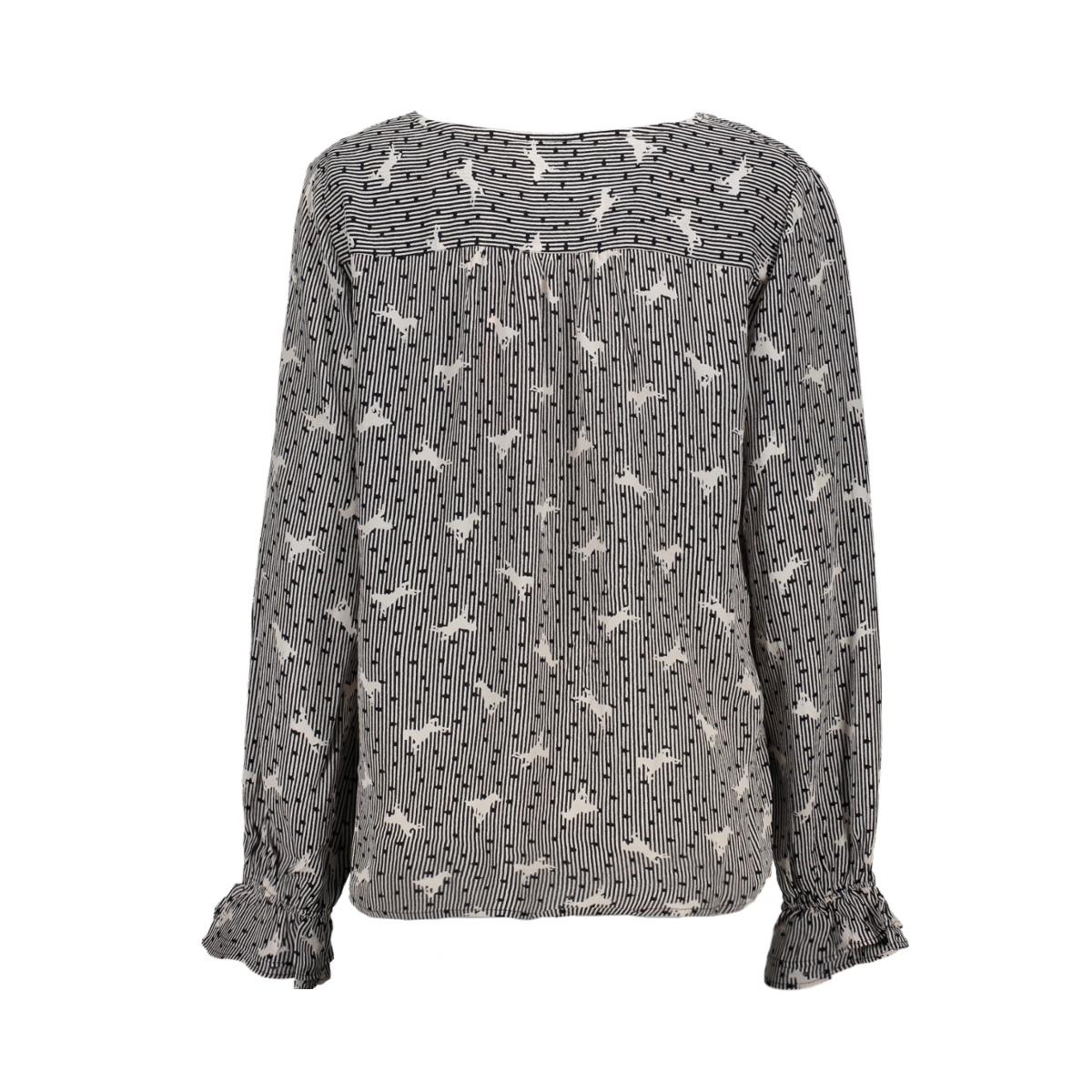 woven shirt l/s u1075 saint tropez blouse 0001 black