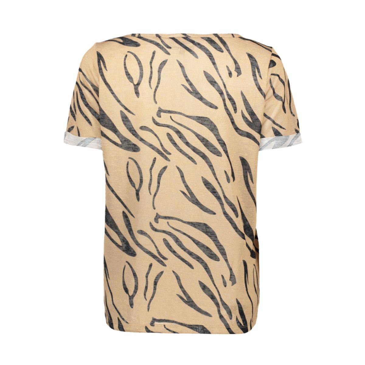 objtessi slub s/s v-neck aop season 23029730 object t-shirt incense/thelma