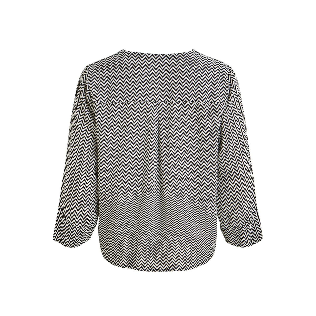 objbay 3/4 top aop seasonal 23028469 object t-shirt black/white zigz