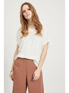 visumi s/s top - fav 14045223 vila t-shirt snow white