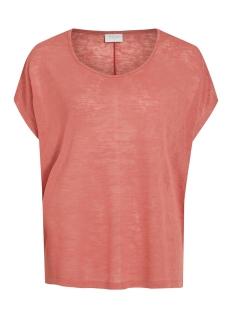 visumi s/s top - fav 14045223 vila t-shirt dusty cedar