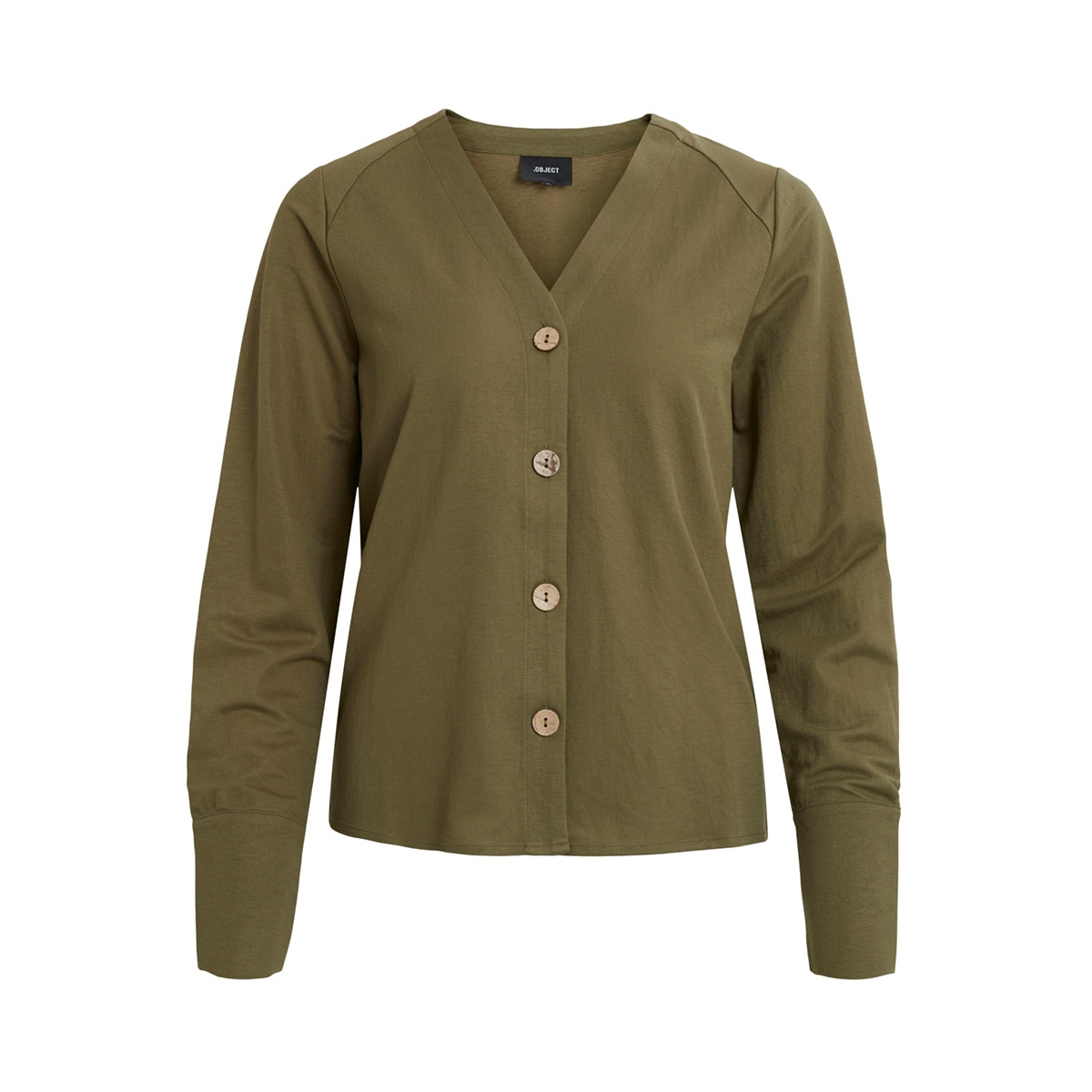 objthelma slim sleeve top 107 div 23032794 object blouse burnt olive