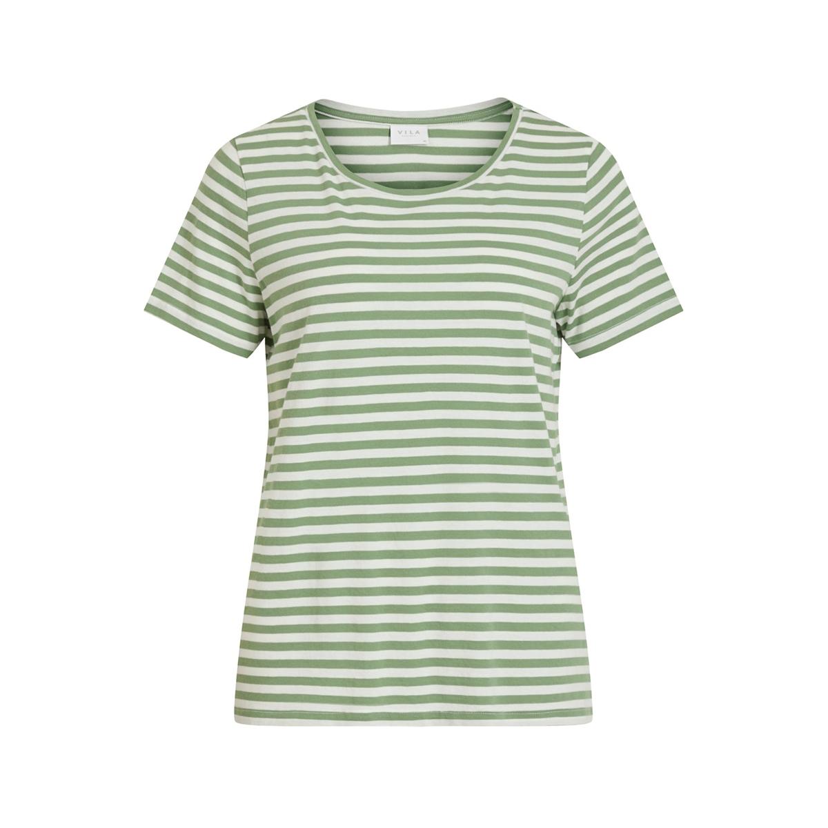 visus o-neck s/s t-shirt/su-fav 14055952 vila t-shirt loden frost/optical snow