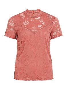 vistasia s/s lace top - fav 14052322 vila t-shirt dusty cedar