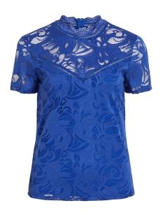 Vila T-shirt VISTASIA S/S LACE TOP - FAV 14052322 Mazarine Blue