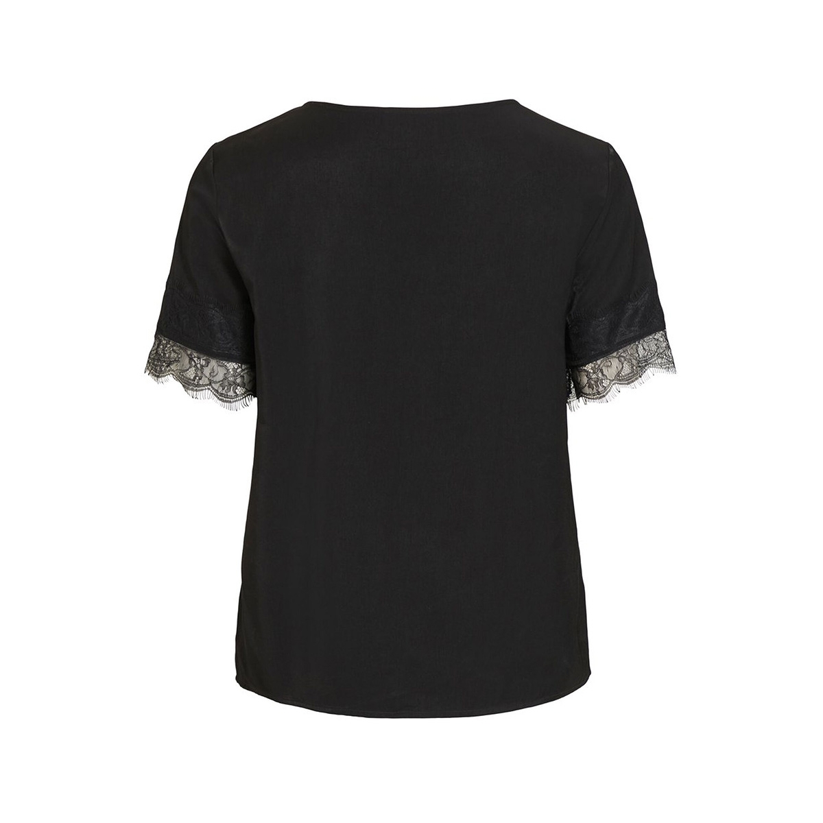 objeileen s/s  lace top noos 23031000 object t-shirt black