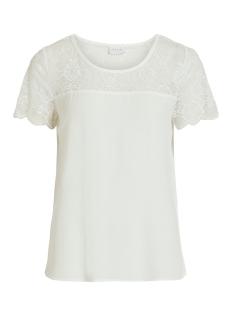 Vila T-shirt VIMERO LACE S/S TOP/SU -NOOS 14054666 Snow White
