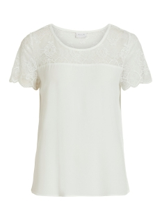 vimero lace s/s top/su -noos 14054666 vila t-shirt snow white