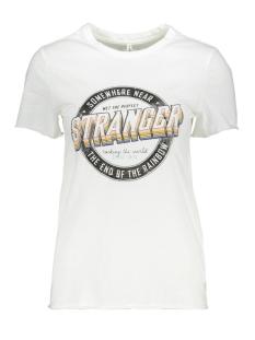 onllucy life reg s/s stranger top j 15213077 only t-shirt bright white/stranger