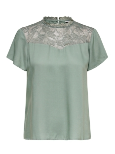 Only T-shirt ONLFIRST SS LACE TOP NOOS WVN 15191412 Chinois Green