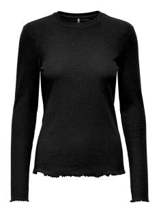 Only T-shirt ONLNELLA L/S O-NECK TOP JRS 15199971 BLACK