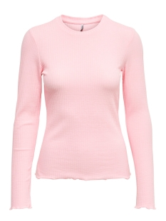 Only T-shirt ONLNELLA L/S O-NECK TOP JRS 15199971 LOTUS