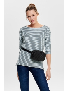 onlelly 3/4 boatneck top jrs 15173186 only t-shirt insignia blue
