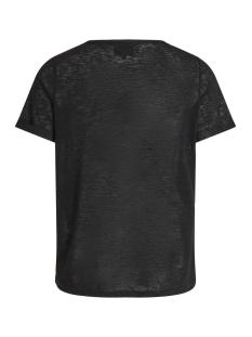 objtessi slub s/s v-neck noos 23023816 object t-shirt black