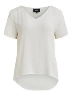 Object T-shirt OBJZOE S/S V-NECK TOP NOOS 23030990 GARDENIA