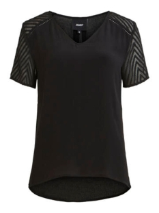 Object T-shirt OBJZOE S/S V-NECK TOP NOOS 23030990 BLACK