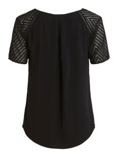 objzoe s/s v-neck top noos 23030990 object t-shirt black