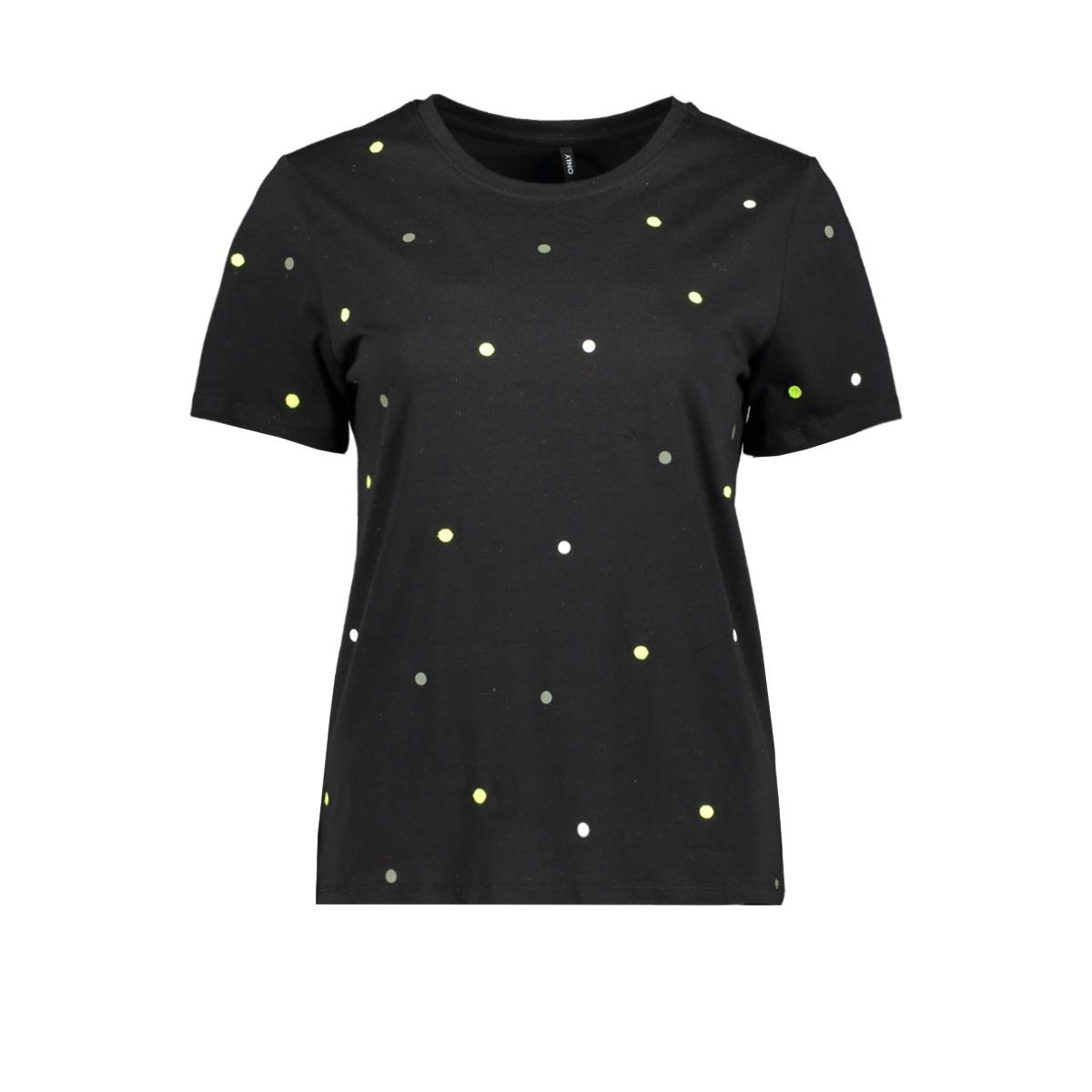 onlkita s/s star/dot top box jrs 15218041 only t-shirt black/dot